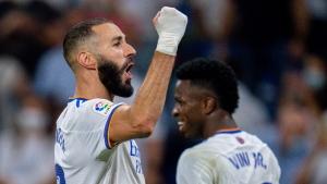 Benzema nets hat trick as Madrid makes winning return to Bernabeu