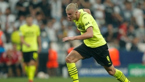 Dortmund striker Haaland out with hip muscle injury