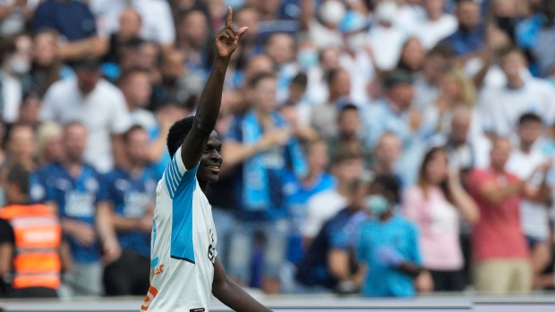 Dieng scores again as Marseille wins to go 2nd; Nice draws