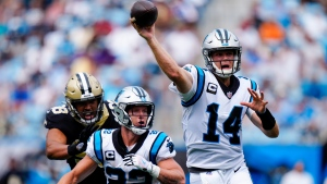Darnold throws two TDs, Panthers defence dominates Saints