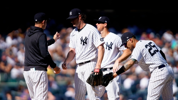 Cole rocked as Yankees lose ground in loss to Cleveland