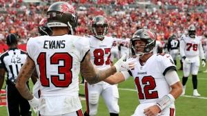 Brady has five touchdowns; Buccaneers rout Falcons