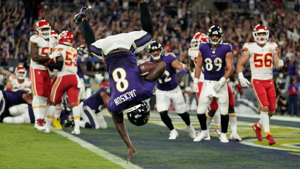 Jackson leads Ravens past Chiefs in Sunday Night thriller