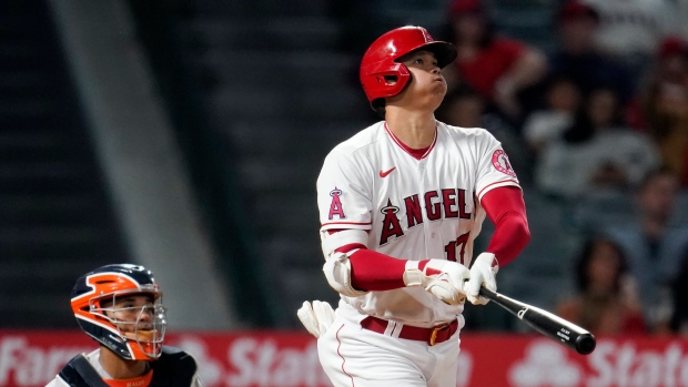 Ohtani hits 45th HR while surging Astros rout Angels