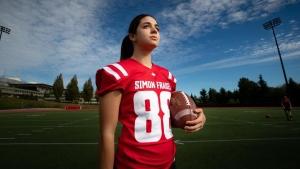 'I'm just proud of myself': SFU's Kristie Elliott makes college football history