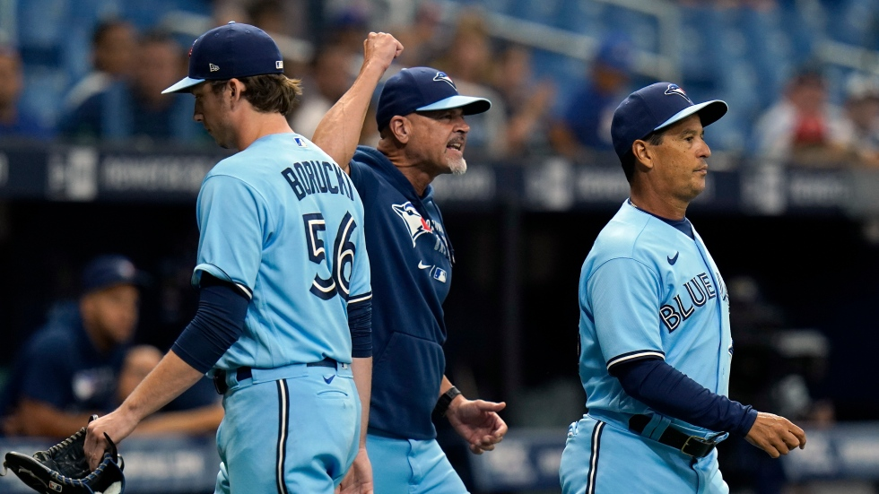 Tempers flare as Jays fall to Rays, lose ground in playoff race