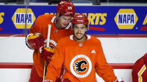 Gaudreau stays silent on Flames future as training camp opens