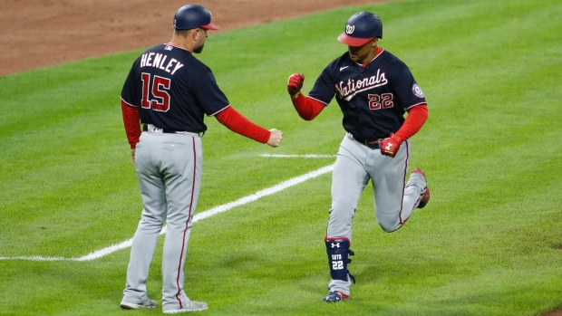 Soto hits two home runs as Nationals beat Reds