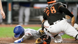 Garcia's double helps Rangers rally past Orioles