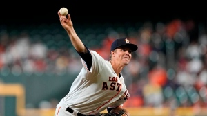 Astros' Greinke scratched from start with neck soreness