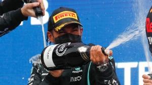 Hamilton wins wild Russian GP for 100th F1 victory