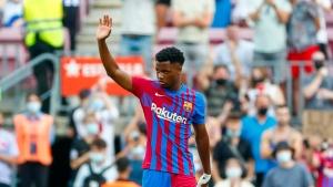 Fati scores in his triumphant return for Barcelona