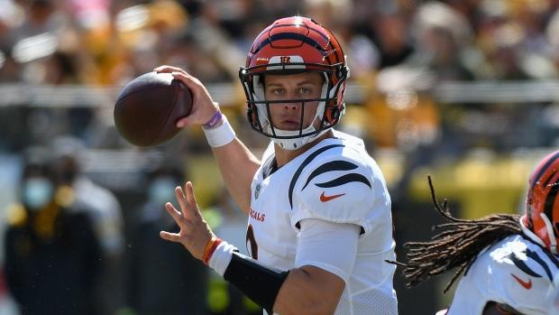 Burrow throws three TDs, Bengals drop listless Steelers