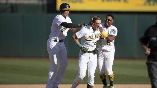 Athletics edge Astros again on walk-off hit