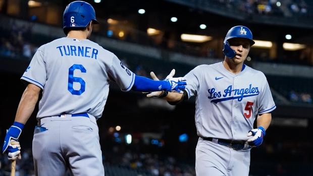 Seager hits two HRs as Dodgers shutout Diamondbacks