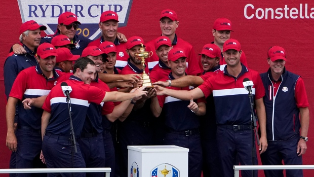 DeChambeau, Koepka 'wanted to play together,' hug after Ryder Cup win