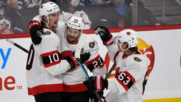 Pinto scores 25 seconds in OT, Senators down Jets in NHL pre-season
