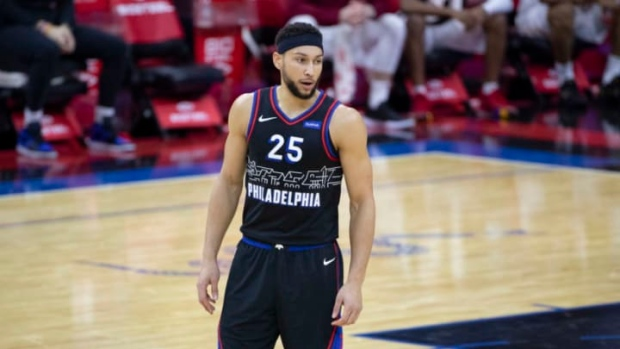 76ers kick off camp without unhappy Simmons