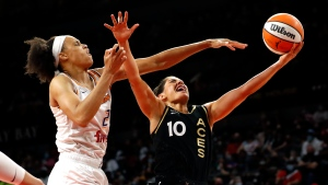 Plum, Aces hold off Mercury in Game 1 of WNBA semifinals