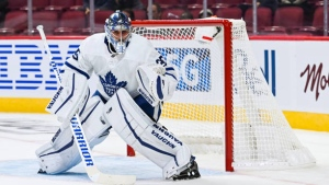 Ice Chips: Mrazek skates with Leafs, will travel with team on road trip