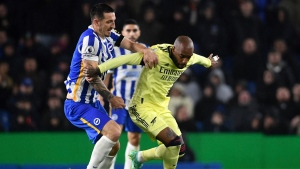 Arsenal's winning run ends with draw at Brighton