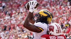 No. 14 Michigan rips Wisconsin; Badgers' Mertz injured