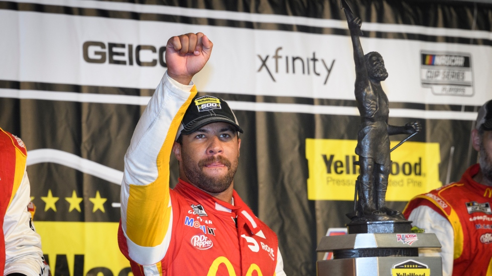 Wallace wins first Cup Series race at Talladega