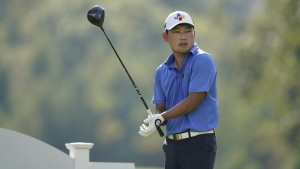 Kang eagles last hole for 61 and two-shot lead at Shriners Children's Open