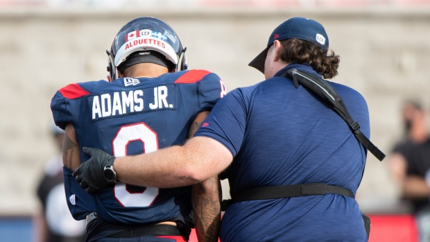 Alouettes place QB Adams Jr. on six-game injured list