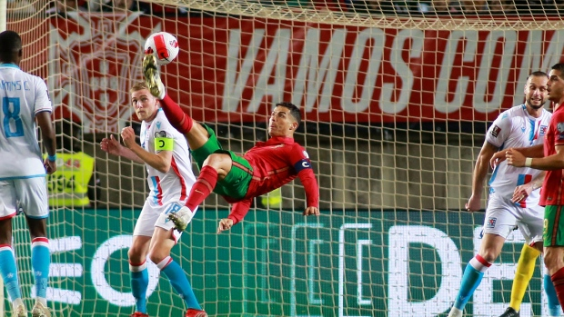 Ronaldo scores hat trick, Denmark qualifies for World Cup