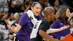 Mercury's Taurasi fined $2,500 for contact with official in Game 2 of WNBA Finals