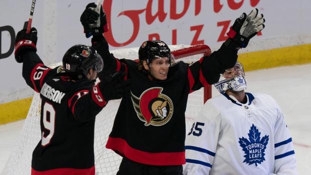 Senators celebrate Tkachuk signing, beat Leafs