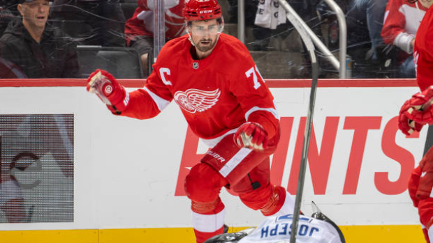 Red Wings captain Larkin suspended one game