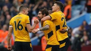 Wolves score three late goals to beat Aston Villa