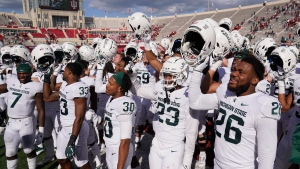No. 10 Spartans stay perfect with win at Indiana