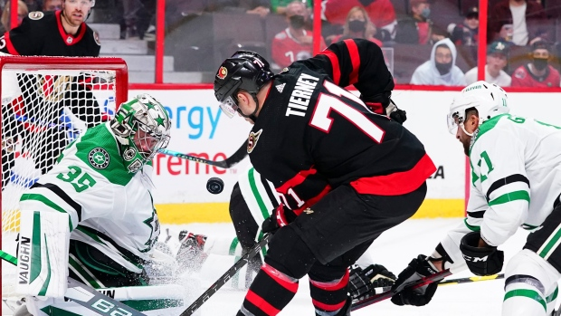 Tierney scores two power-play goals in 2nd period, Senators beat Stars