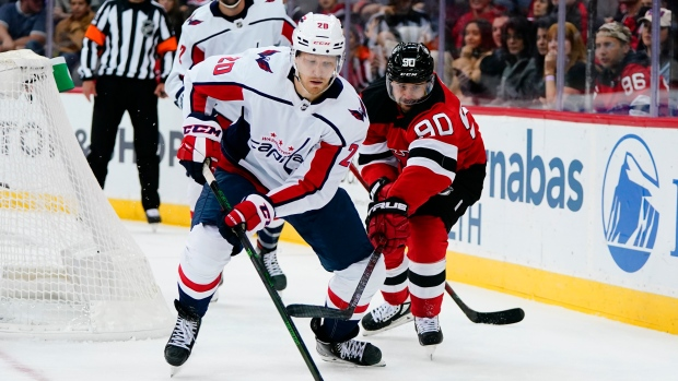 Capitals' Sprong has goal, assist in win over Devils