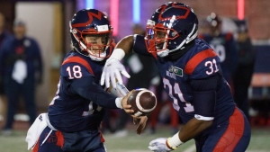 Strong quarterback play, running game powers Alouettes
