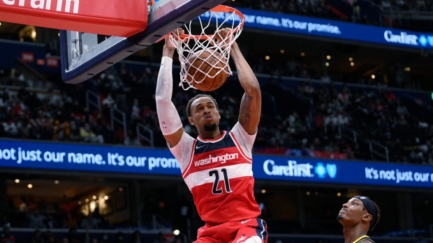 Dinwiddie leads Wizards to OT win over Pacers