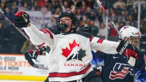 Canada beats US in pre-Olympic women's hockey game