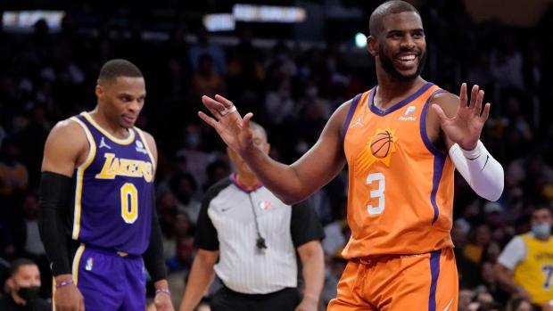Paul hits milestone, leads Suns past shaky Lakers