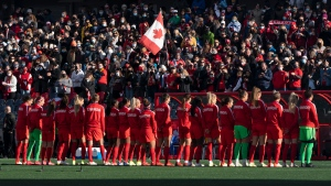 Canadian women's soccer team sends a message in return home