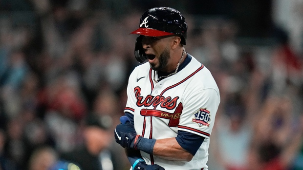 Lucky lumber: Rosario's hot bat leads Braves to Series