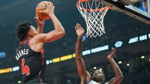 Raptors' rookie Barnes impresses in first back-to-back