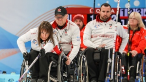 Canada wins pair of round-robin games at world wheelchair curling championship