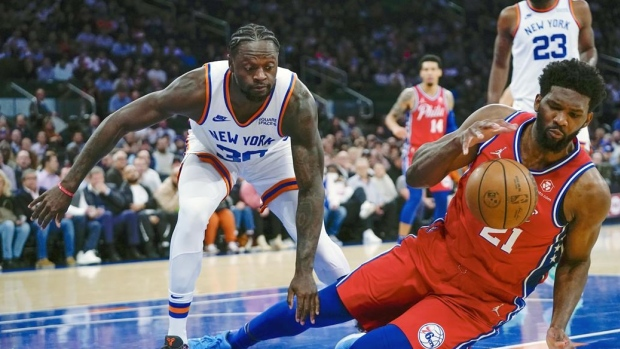 Knicks romp to end 15-game skid vs. 76ers