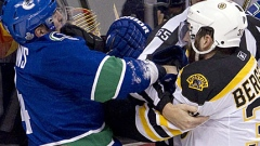 Alex Burrows Canucks Patrice Bergeron Bruins