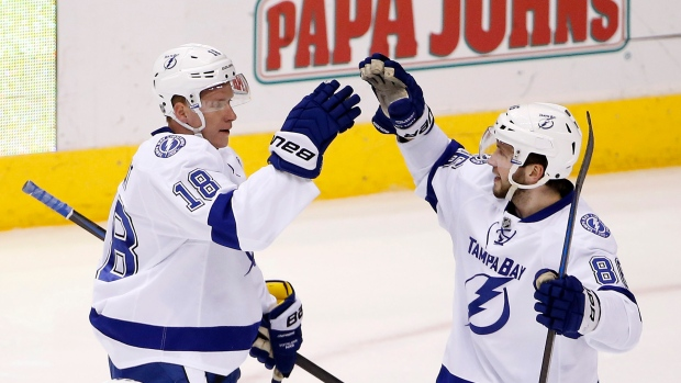 Ondrej Palat and Nikita Kucherov