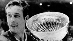 Jean Beliveau with the Stanley Cup