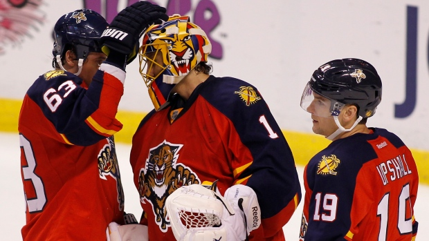 Luongo, Panthers celebrate